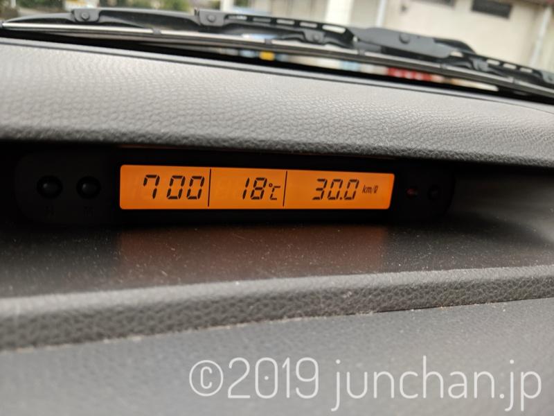 今朝の外気温 18℃