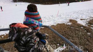 息子とスキー