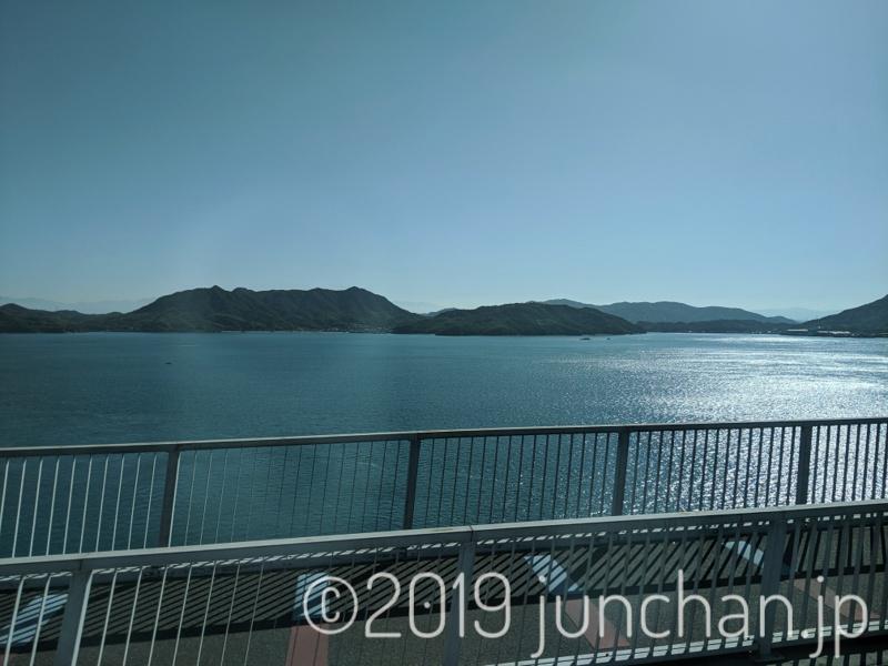 多々羅大橋から見た海と島
