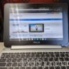 ASUS Chromebook Flip C101PAにPDA工房の液晶保護フィルムPerfect Shieldを貼り付けて
