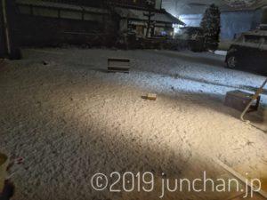 雪が積もりはじめた