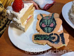 ケーキと仮面ライダー板チョコ