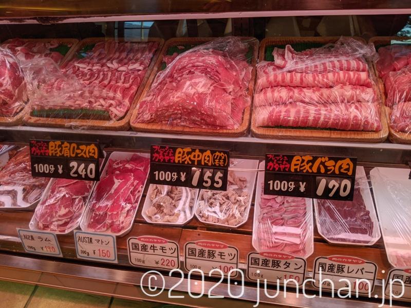 お肉屋さんのお肉