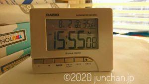 室温が36℃近くなることも