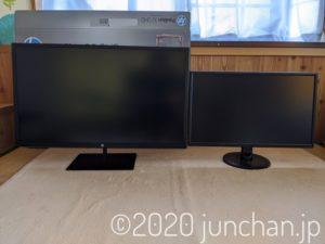 HP Pavilion 32 QHD 24インチモニタと比較