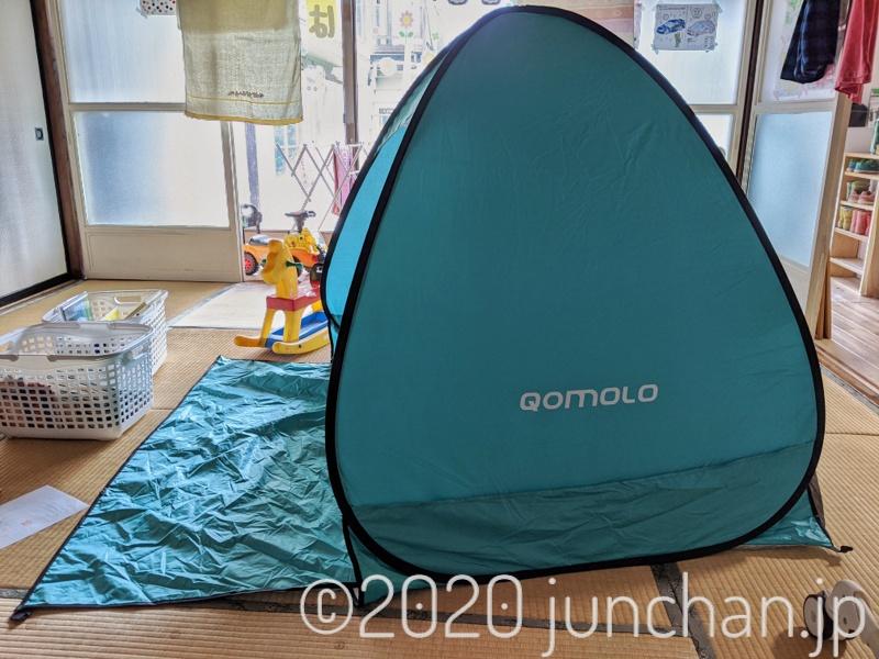 家の中にテントを立てる