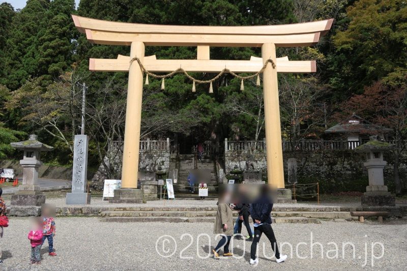 戸隠神社 中社 鳥居が新しくなっていた