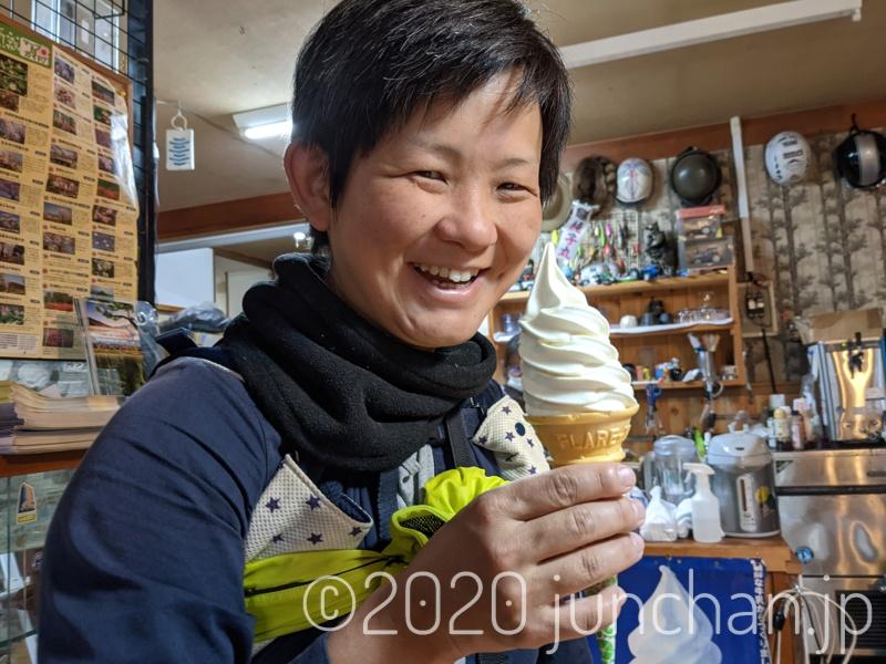 立花屋でソフトクリーム休憩