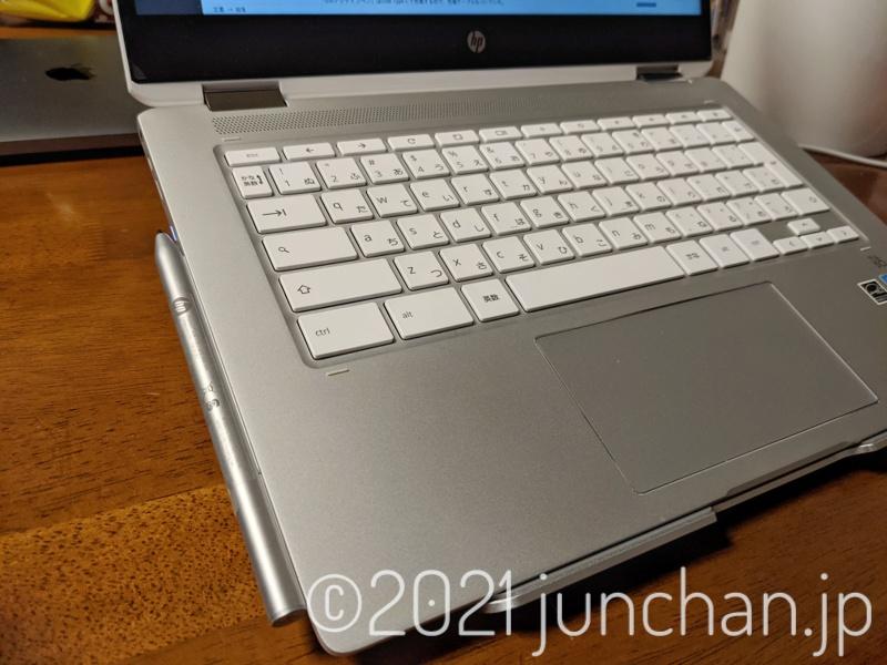 HP USIアクティブペンが側面に磁石で付く