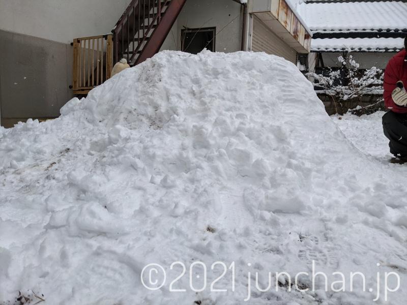 雪山ができてきた