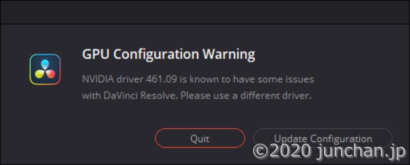 GPU Configuration Warning