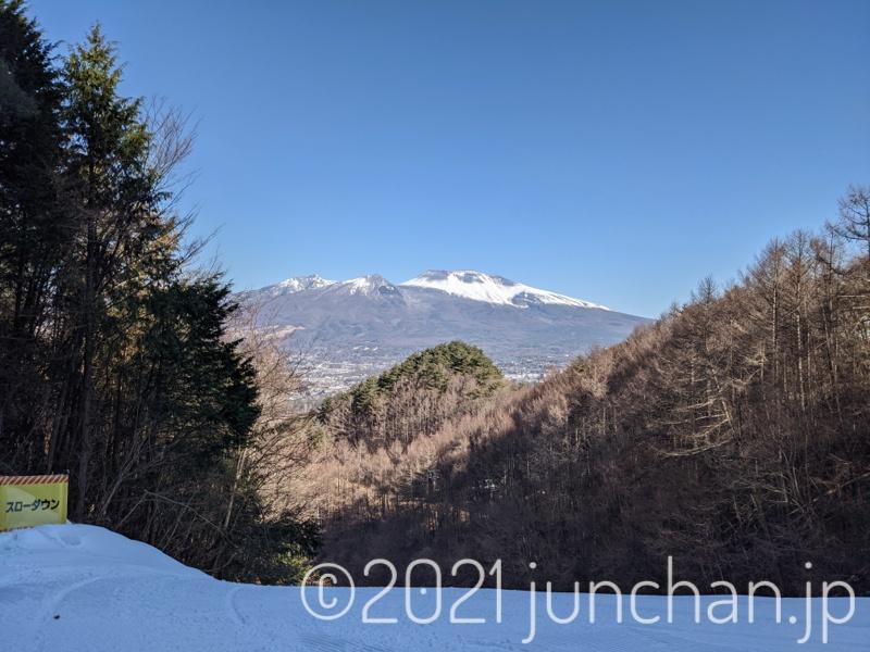パラダから見える浅間山
