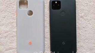 Pixel 5a (5G)本体と純正カバーを並べてみる